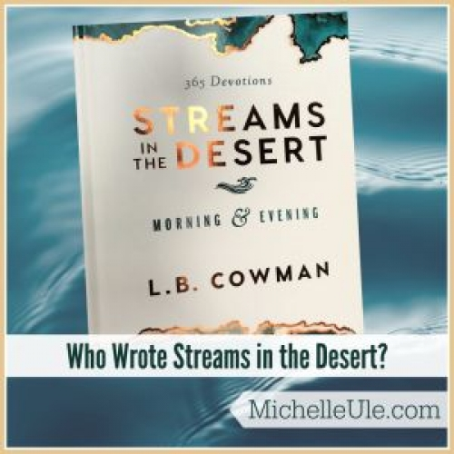 Who Wrote Streams in the Desert?